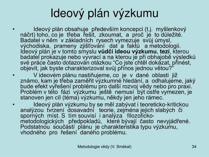 Ideový plán výzkumu