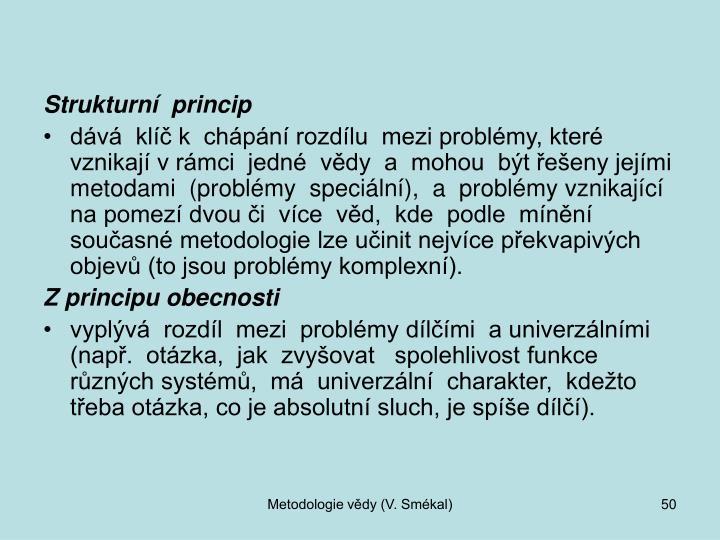Strukturní  princip