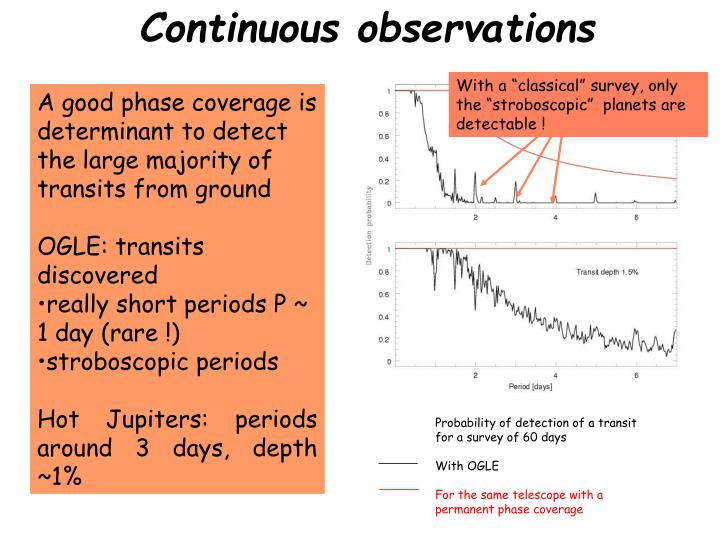 Continuous observations