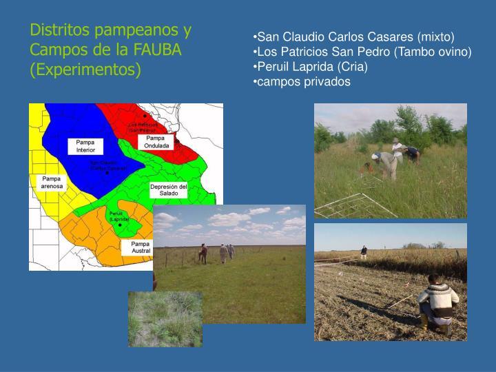 Distritos pampeanos y Campos de la FAUBA (Experimentos)