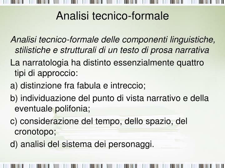 Analisi tecnico-formale
