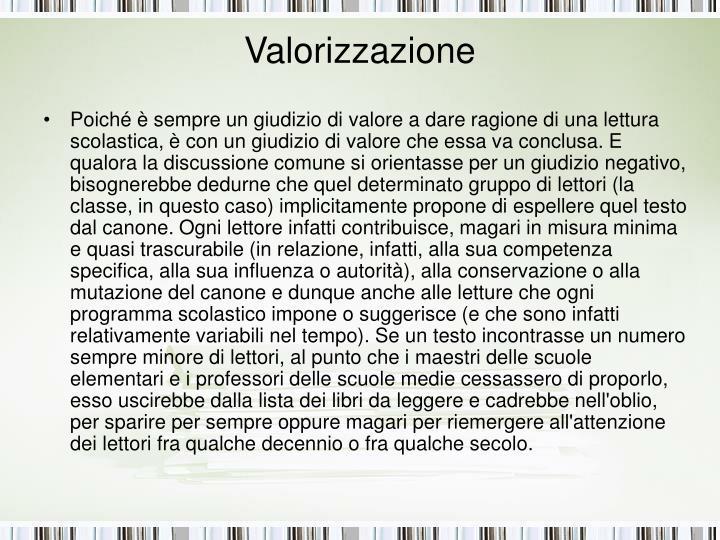 Valorizzazione
