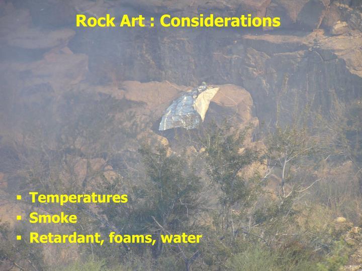 Rock Art : Considerations