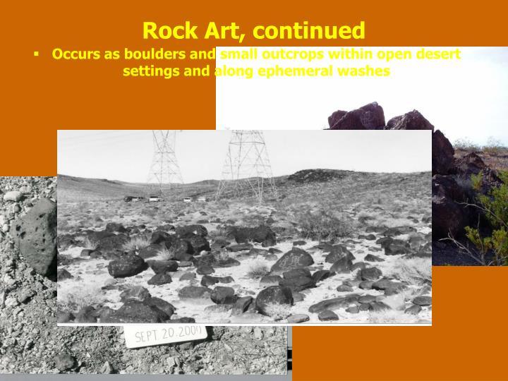 Rock Art, continued