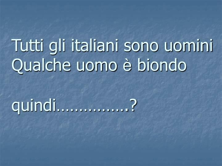 Tutti gli italiani sono uomini
