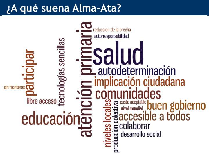 ¿A qué suena Alma-Ata?