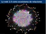 la web 2 0 como ecosistema de relaciones