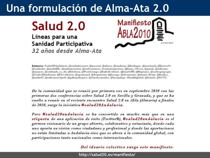 Una formulación de Alma-Ata 2.0
