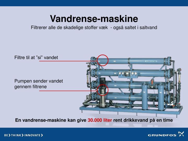 Vandrense-maskine