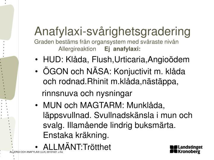 Anafylaxi-svårighetsgradering