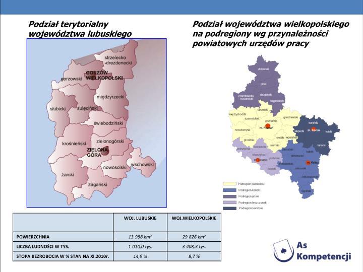 Podział terytorialny województwa lubuskiego