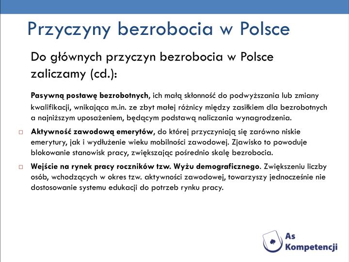 Przyczyny bezrobocia w Polsce