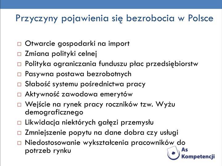 Przyczyny pojawienia się bezrobocia w Polsce