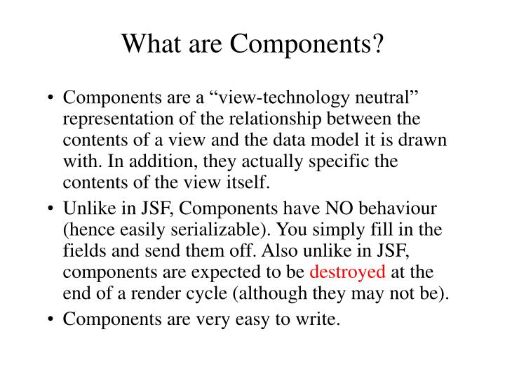 What are Components?