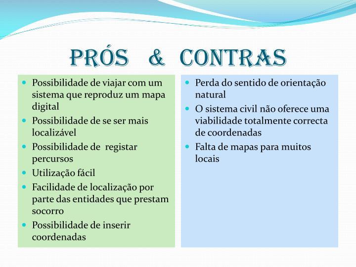 PRÓS   &  CONTRAS