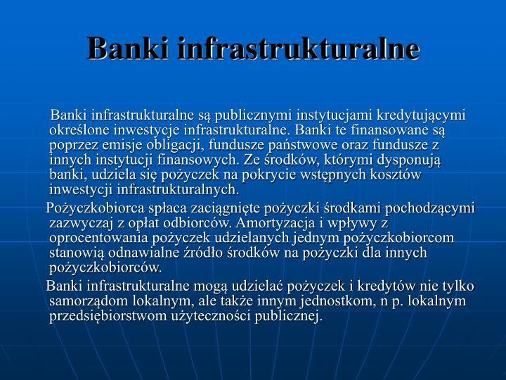 Banki infrastrukturalne