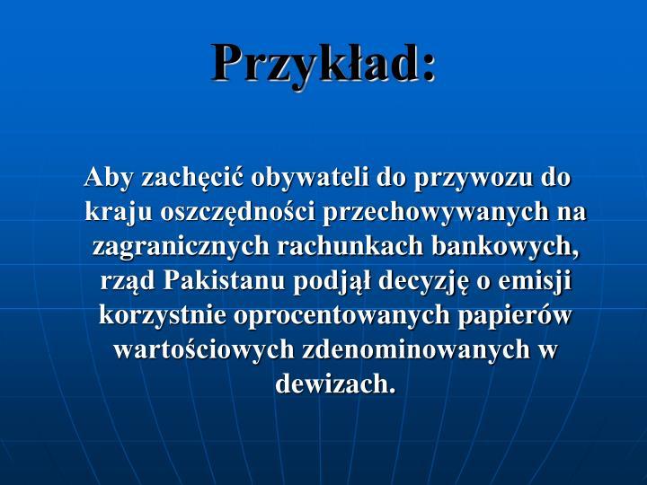 Przykad:
