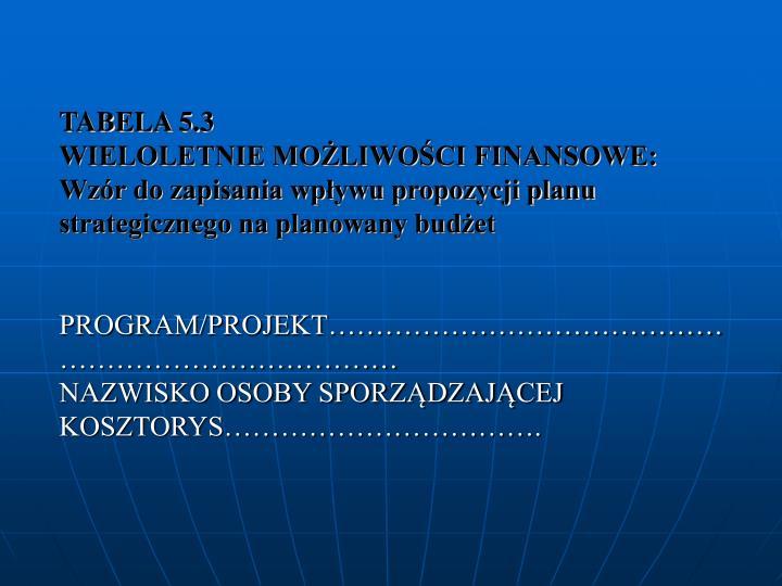 TABELA 5.3
