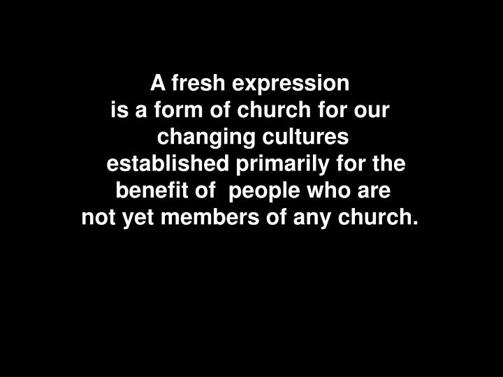 A fresh expression