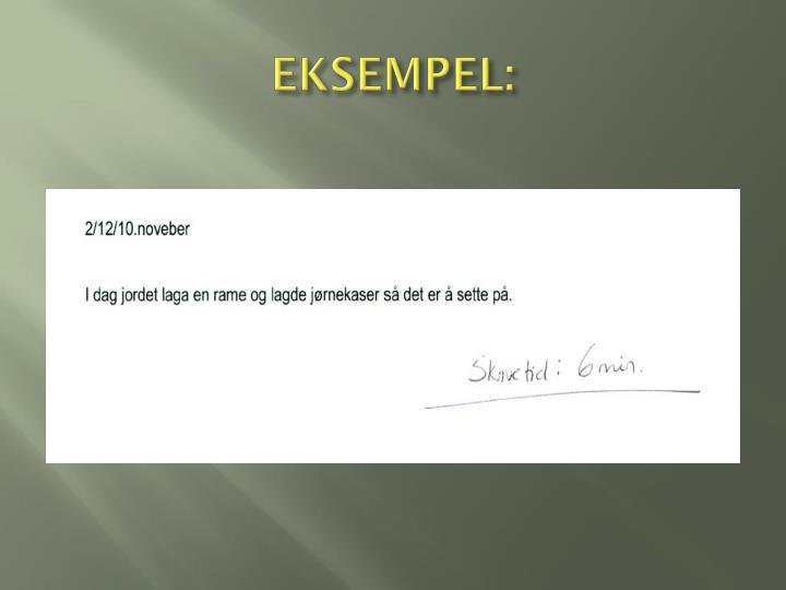 EKSEMPEL: