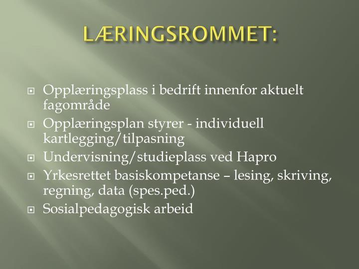 LÆRINGSROMMET: