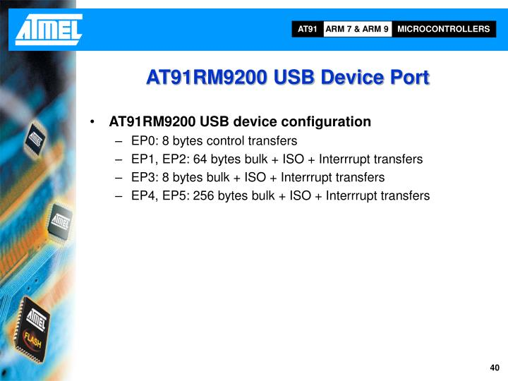 AT91RM9200 USB Device Port