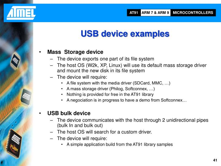 USB device examples
