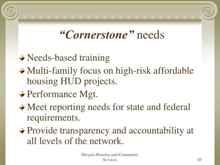 """""""Cornerstone"""""""