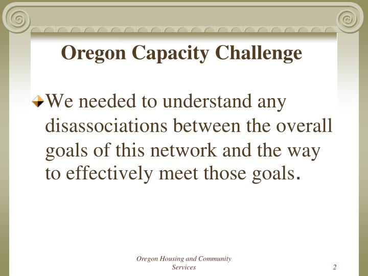 Oregon Capacity Challenge