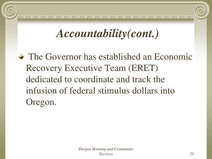 Accountability(cont.)
