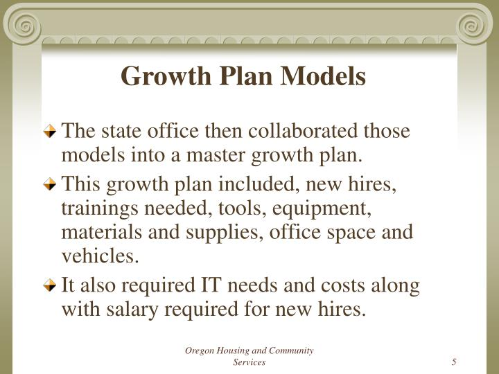 Growth Plan Models