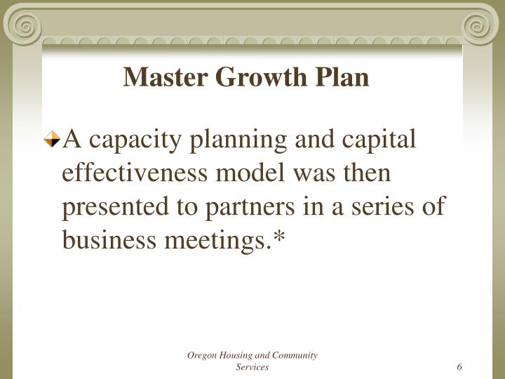 Master Growth Plan