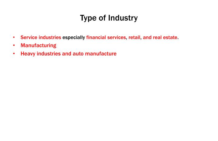 Type of Industry