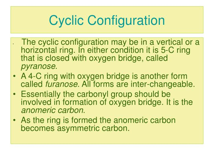Cyclic Configuration