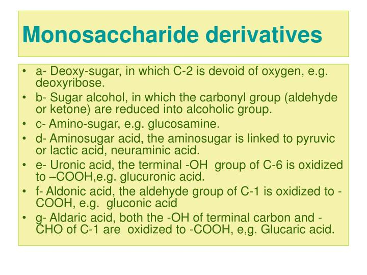 Monosaccharide derivatives