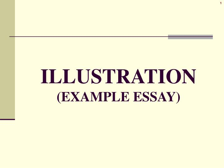 illustration example essay