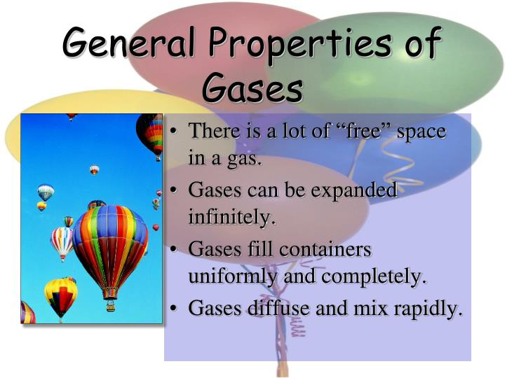 General Properties of Gases