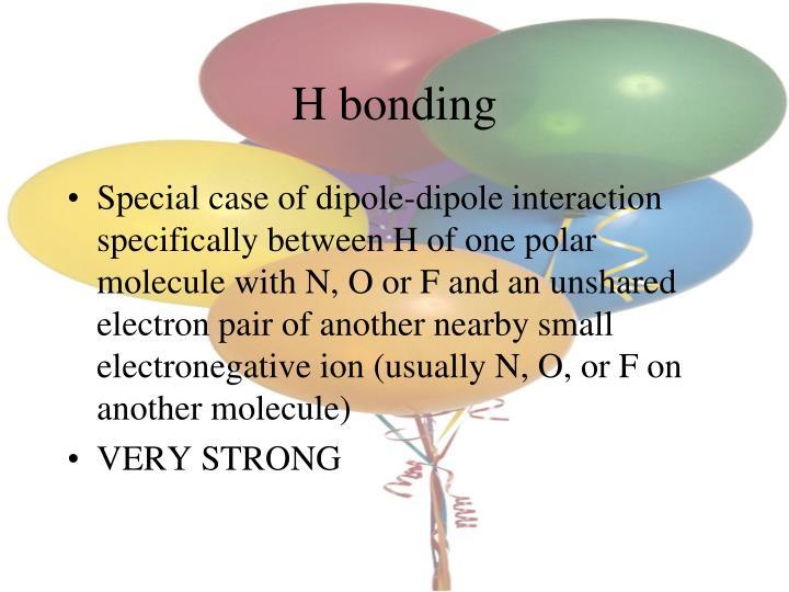 H bonding