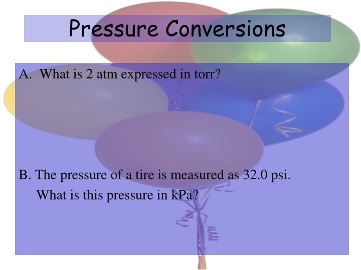 Pressure Conversions