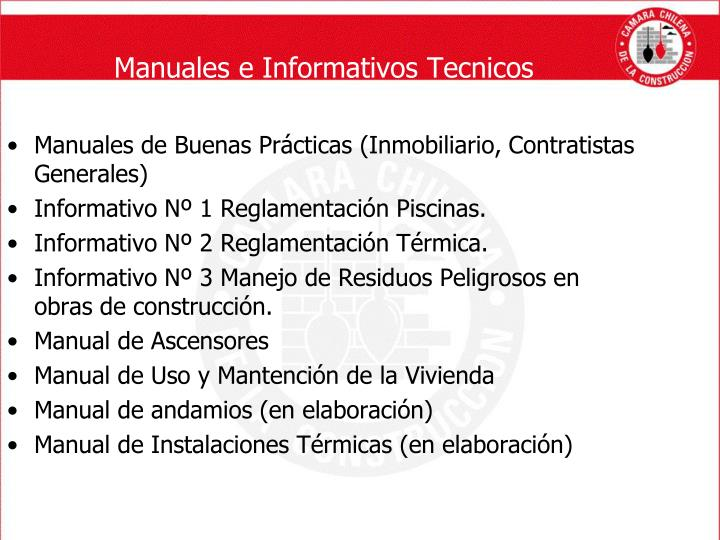 Manuales e Informativos Tecnicos
