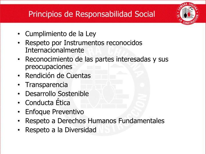 Principios de Responsabilidad Social