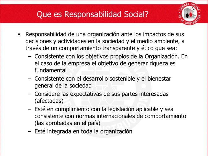 Que es Responsabilidad Social?