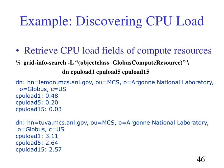 Example: Discovering CPU Load