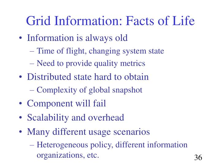 Grid Information: Facts of Life