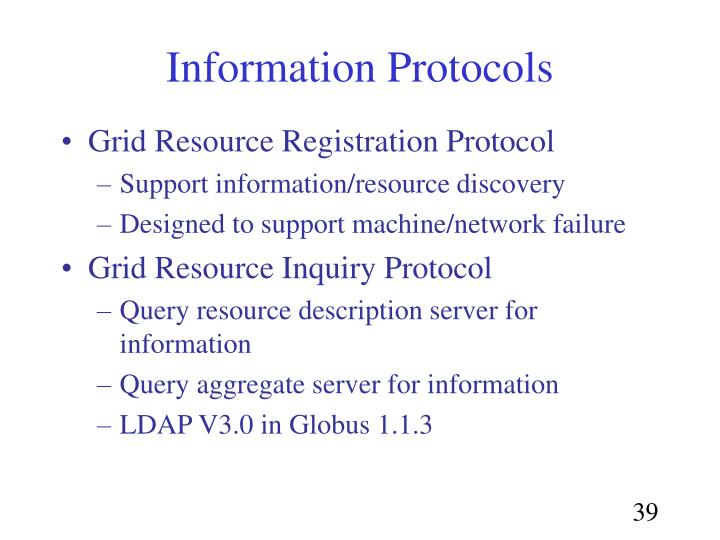 Information Protocols