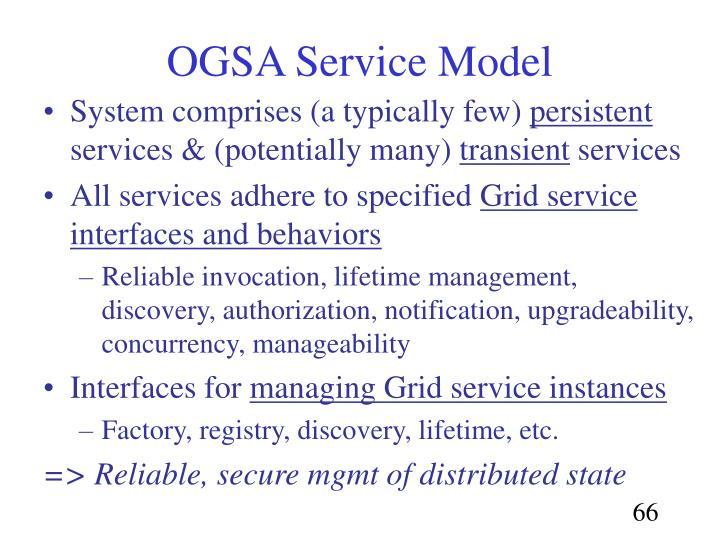OGSA Service Model