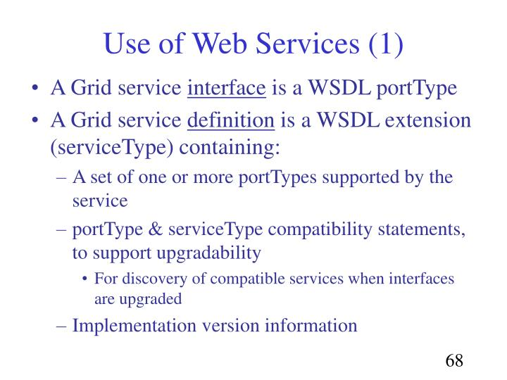 Use of Web Services (1)