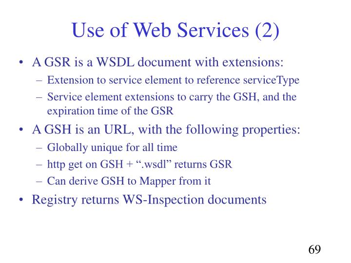 Use of Web Services (2)