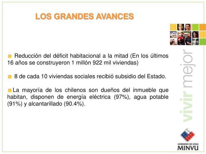 LOS GRANDES AVANCES