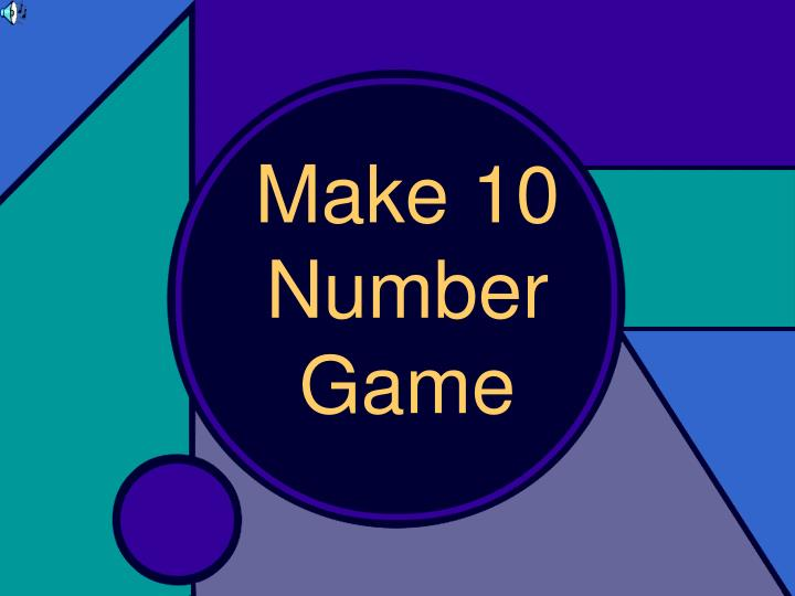 Make 10 number game
